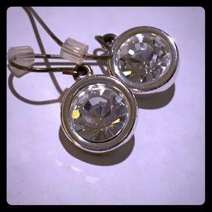 Swarovski rhinestone pierced earrings